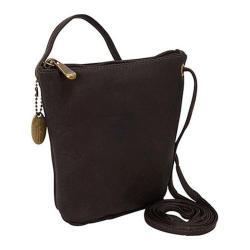 Women's David King Leather 518 Top Zip Mini Bag Cafe