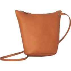 Women's David King Leather 518 Top Zip Mini Bag Tan