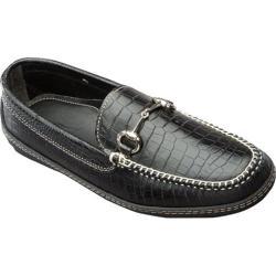 Men's David Spencer Croco Horse Bit Driver Black Croco Leather