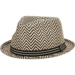 Men's Ben Sherman Herringbone Straw Trilby Brown
