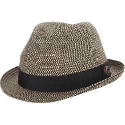 Men's Ben Sherman Sewn Braid Straw Trilby Black