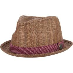 Men's Ben Sherman Straw with Patterned Band Trilby Brown