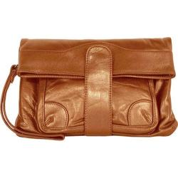 Women's Latico Mimi Wristlet/Clutch 7617 Metallic Copper Leather