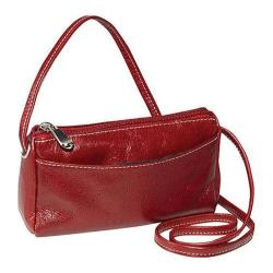 Women's David King Leather 3501 Florentine Top Zip Mini Bag Red