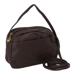 Women's David King Leather 517 Top Zip Mini Bag Cafe