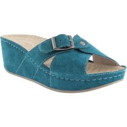 Women's David Tate Fay Teal Suede