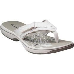 Women's Clarks Breeze Sea Sandal White Polyurethane