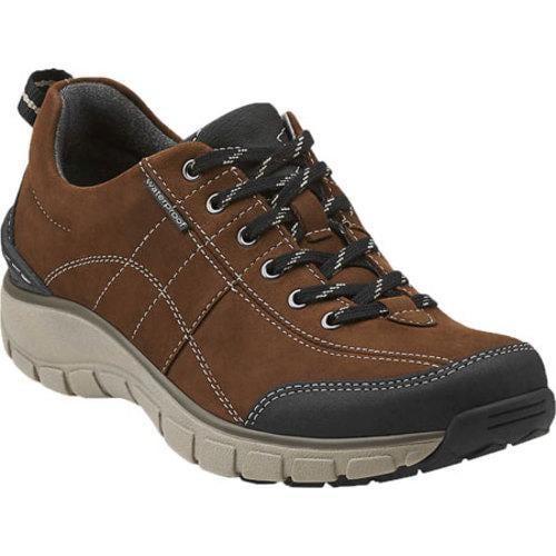 s clarks wave trek walking shoe brown leather free