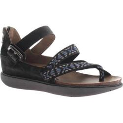 Women's OTBT Morehouse Sandal Black Nylon Fabric/Leather