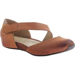 Women's OTBT Pacific City Flat Brown Sugar Leather