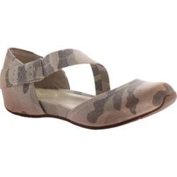 Women's OTBT Pacific City Flat Light Camo Fabric/Polyurethane
