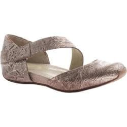 Women's OTBT Pacific City Flat Light Pewter Leather