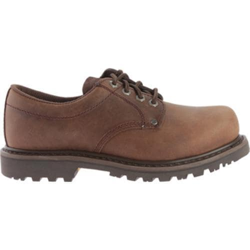 Men's Roadmate Boot Co. 403 4in Oxford Steel Toe Chocolate Brown Crazy Horse Leather - Thumbnail 1