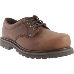 Men's Roadmate Boot Co. 403 4in Oxford Steel Toe Chocolate Brown Crazy Horse Leather