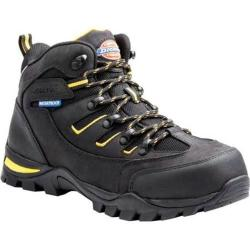 Dickies Men's Boots Sierra Steel Toe Lace Up Black Full Grain Leather/Nylon