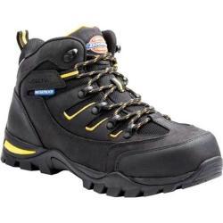 Dickies Men's Boots Sierra Steel Toe Lace Up Black Full Grain Leather/Nylon