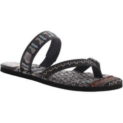 Women's OTBT Cokato Thong Sandal Black Leather