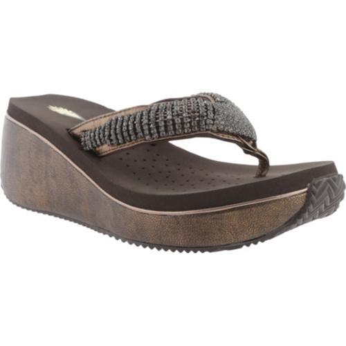 2e0ad9c15825 Shop Women s Volatile Fairydust Wedge Sandal Bronze Leather - Free Shipping  Today - Overstock - 10304120