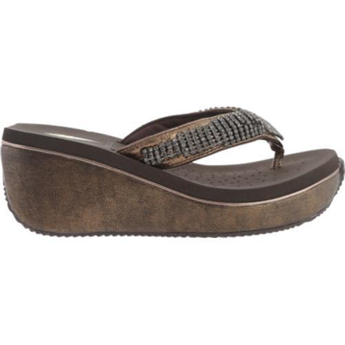 ba671b32a651 ... Thumbnail Women  x27 s Volatile Fairydust Wedge Sandal Bronze Leather  ...