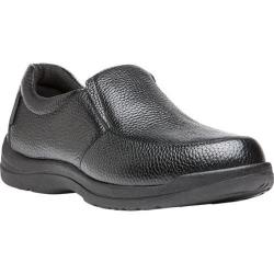 Men's Propet Cruz II Slip On Black Full Grain Leather