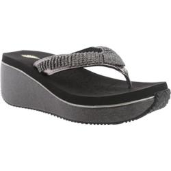 Women's Volatile Fairydust Wedge Sandal Pewter Leather