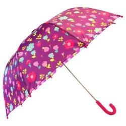 Girls' Western Chief Lovely Floral Umbrella Purple