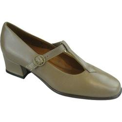 Women's FootThrills Crosstown T-Strap Taupe Leather