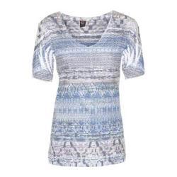Women's Ojai Clothing Burnout Vee Lapis Blue Tribal