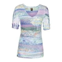 Women's Ojai Clothing Burnout Vee Pinkberry Tribal