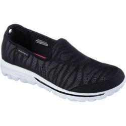 Women's Skechers GOwalk Extract Slip On Sneaker BlackWhite   Shopping The Best Deals on Slip ons