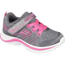 Girls' Skechers Swift Kicks Sneaker Charcoal/Neon Pink
