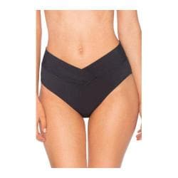 Women's Sunsets V-Front High Waist Swim Bottom Black