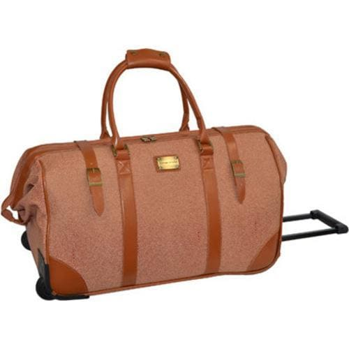 bd5dc4458b Shop Adrienne Vittadini Stingray Natural 22-inch Rolling Duffel Bag - Free  Shipping Today - Overstock - 10320647