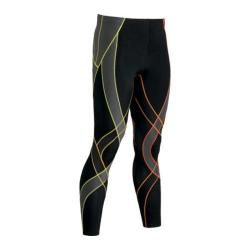 Men's CW-X Endurance Generator Tights Black/Orange Gradient