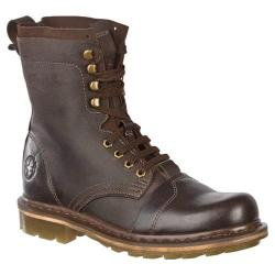 Men's Dr. Martens Pier 9 Tie Boot Dark Brown Wyoming/Hi Suede