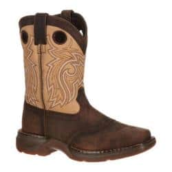 Children's Durango Boot DBT0117 Lil' Rebel 8in Saddle Brown/Tan Leather|https://ak1.ostkcdn.com/images/products/89/904/P17432714.jpg?impolicy=medium