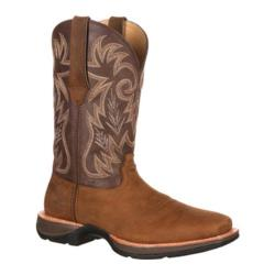 Men's Durango Boot DDB0056 12in Western Ramped Up Rebel Tan/Chocolate Leather