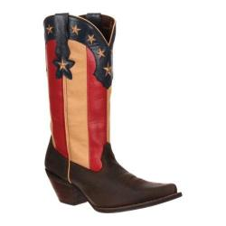 Women's Durango Boot DRD0060 12in Stars and Stripes Crush Dark Brown/Union Flag Leather