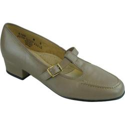 Women's FootThrills Rena T-Strap Taupe Leather