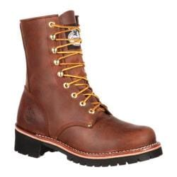 Men's Georgia Boot GB00048 8in Logger Brown Leather