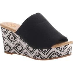 Women's Madeline Dusty Wedge Sandal Black/White