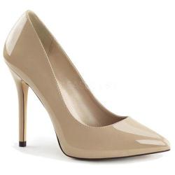 Women's Pleaser Amuse 20 Cream Patent