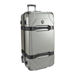 Traveler's Choice Maxporter Silver 32-inch Hardside Rolling Upright Duffel Suitcase
