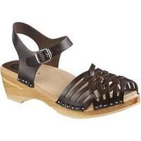 Women's Troentorp Bastad Clogs Anna Original Cola Brown Leather