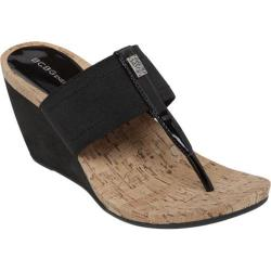 Women's BCBGeneration Marinaa Wedge Sandal Black Elastic