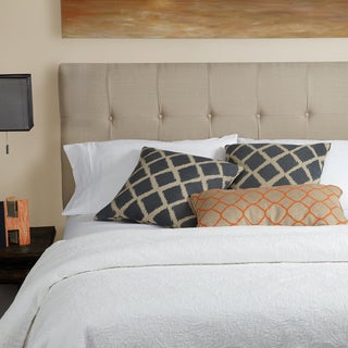 Humble + Haute Stratton Beige Linen Full Tufted Upholstered Headboard