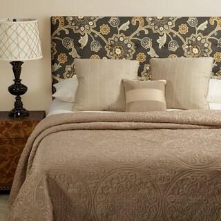 Humble + Haute Prescott Grey Floral Linen Tufted Upholstered Headboard