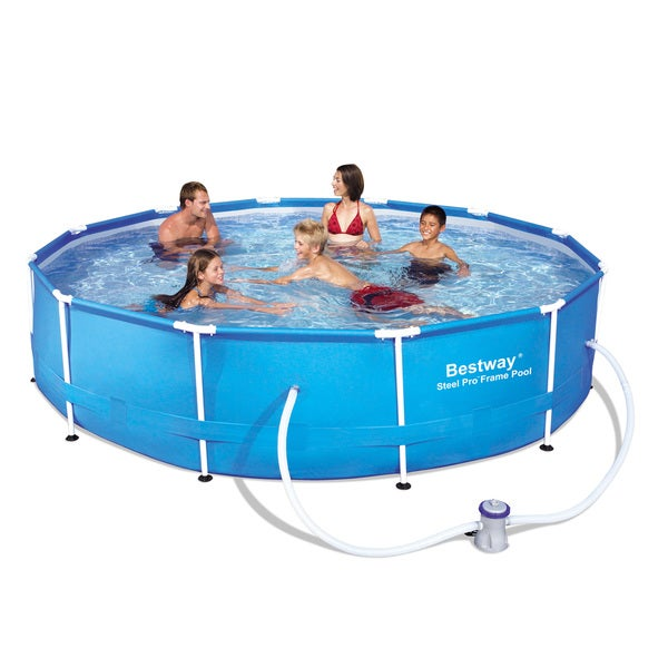 Bestway steel pro frame pool set free shipping today for A frame pools and spas
