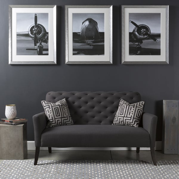 shop giclee print 39 old airplane 39 framed glass 3 piece set free shipping today overstock. Black Bedroom Furniture Sets. Home Design Ideas