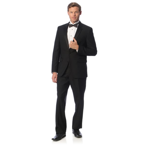 6097be2a ... Men's Clothing; /; Formalwear; /; Tuxedos. Kenneth Cole New York  Men's Slim Fit Black Wool Tuxedo